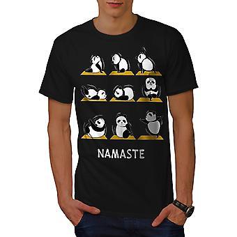 Yoga plantea BlackT-camisa de los hombres divertidos | Wellcoda