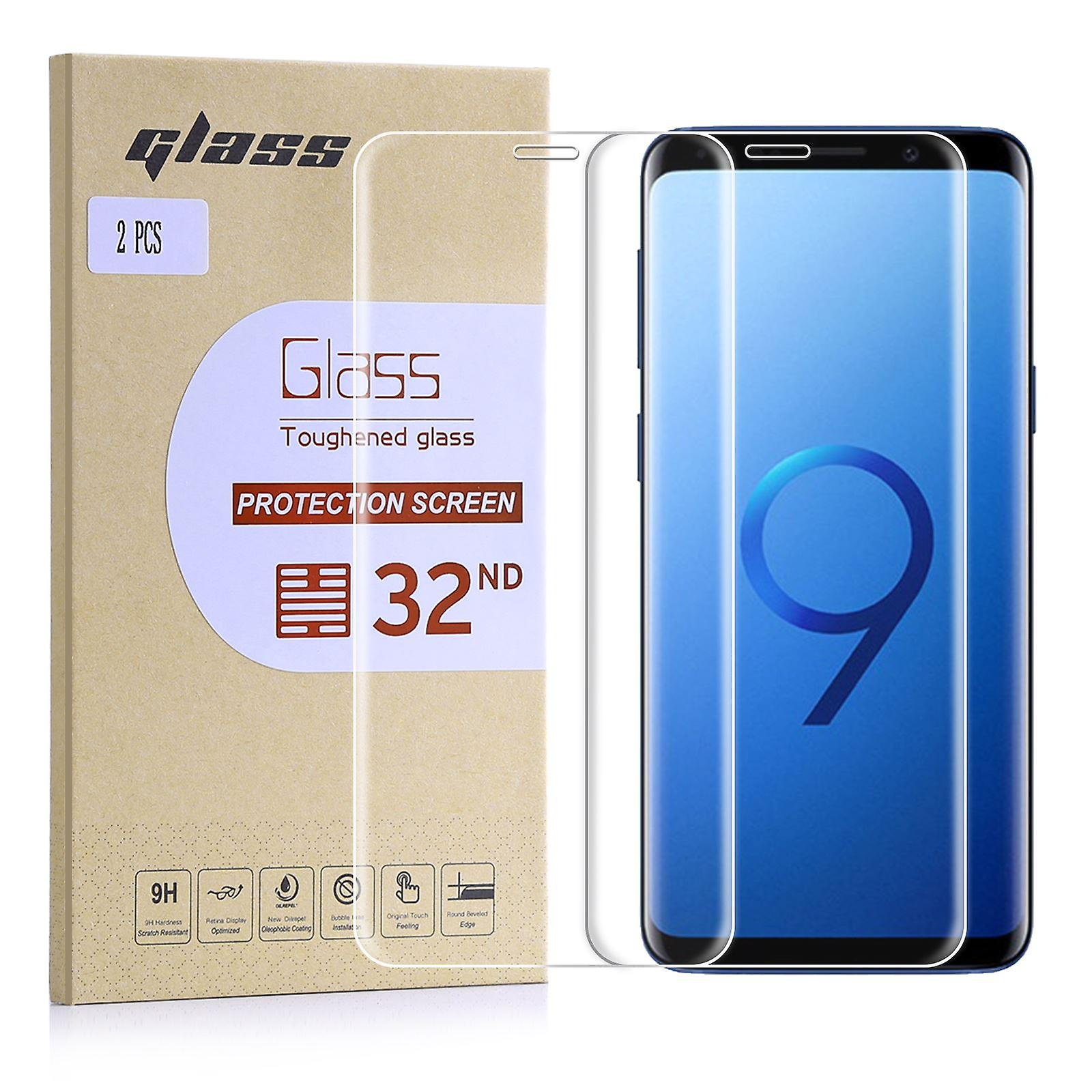 Extra Tempered Glass for Samsung Galaxy S9 (3D) - Clear (2 Pack)