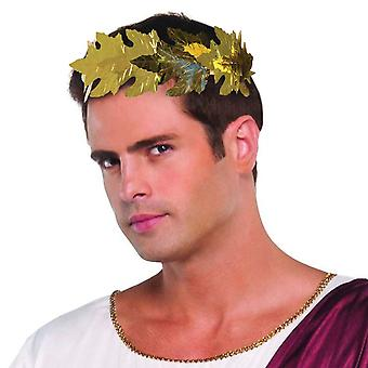 Archetto di Laurel romano, greco/dea/Toga Party.  Falso foglia oro design.