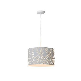 Lucide Marguerite Modern Round Metal White Pendant Light
