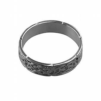 حجم سلتيك خاتم الزواج البلاتين 6 مم Z