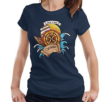 Carribean verloren auf See Kompass Damen T-Shirt