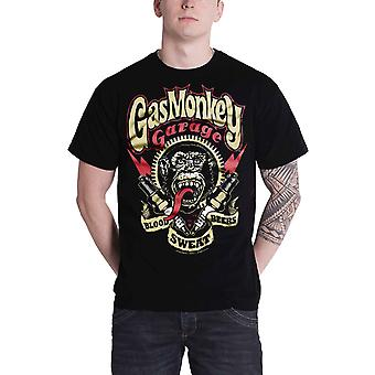 Gas Monkey Garage T Shirt Spark Plugs new Official Mens Black