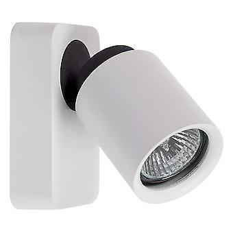 Glasberg - branco e negro cinzento holofotes de luz única parede ajustável 545020401