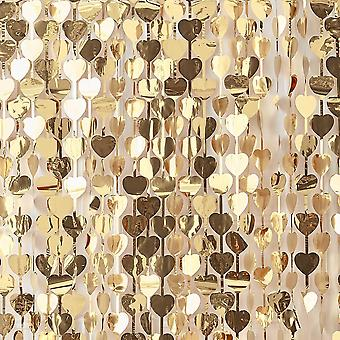 Gold Heart Backdrop - Gold Wedding 1m Wide Photo Booth Background