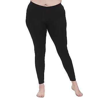 Rosch 1194612-11741 Women's Curve Jet Black Ankle Length Leggings