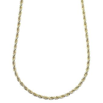 Gold Plated Rope Chain, Dookie Chain FILLED 4mm X 24 Inches