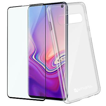 4Smarts Galaxy S10 Polycarbonate and Tempered Glass case Transparent