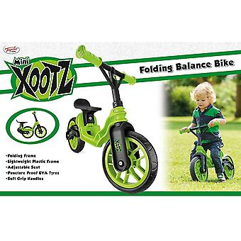 Toyrific Mini Xootz Folding Balance Bike Green