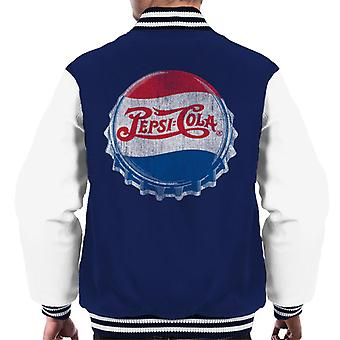 Pepsi Cola 1945 Style Distressed Bottlecap Men's Varsity Jacket