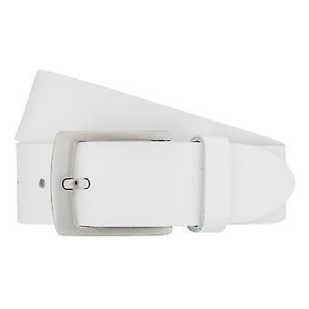 BERND GÖTZ belts men's belts leather belt white 7475