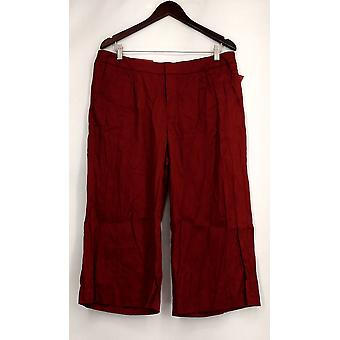 Pantalon Merona Higher Mid Rise Capri Berry Maroon Red Womens