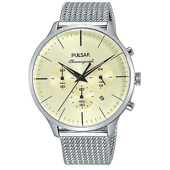 Pulsar business Quartz Analog Man Watch with PT3859X1 Stainless Steel Bracelet