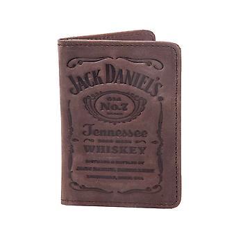 Jack Daniels kaart portemonnee Debossed klassieke oude No 7 Logo nieuwe officiële Brown