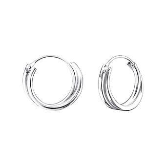 Twist - 925 Sterling Silver Ear Hoops - W21804x