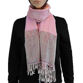 Huivi/Shawl/Shawl 100% Pashmina vaaleanpunainen Multi Color