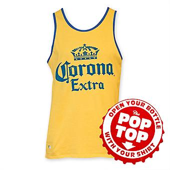 Corona Extra Men's Yellow Pop Top Bottle Opener Tank Top