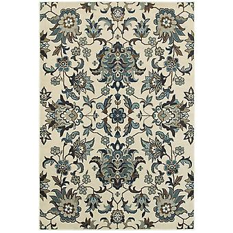 Linden 7811a ivory/ blue indoor area rug rectangle 5'3