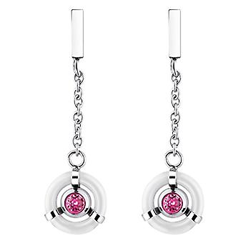 Phebus -Women's Pendant Earrings - stainless steel - crystal - 843-013.B.502