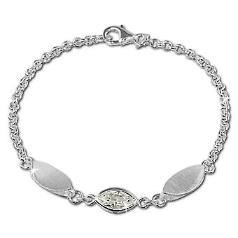 Silver women's bracelet Sterling 925 SilberDream zirconi 19 -0 cm white VSDA418W