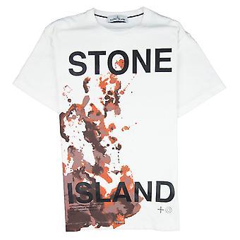 Ilha de pedra 2NS86 carta gráfica T-shirt branco V0099