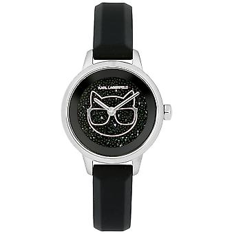 Karl lagerfeld jewelry ikonik Quartz Analog Woman Watch with Silicone Bracelet 5513060