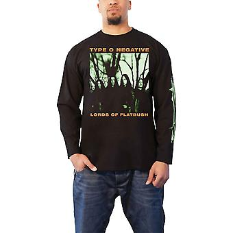 Type O Negative T Shirt October Rust Band Logo Official Mens Black Long Sleeve