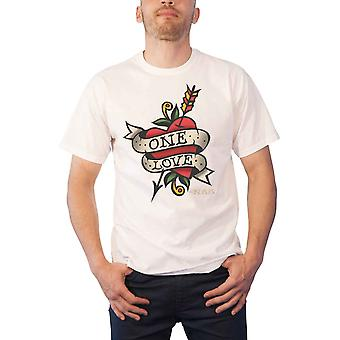 Nas T Shirt One Love Tattoo Logo Illmatic new Official Mens White