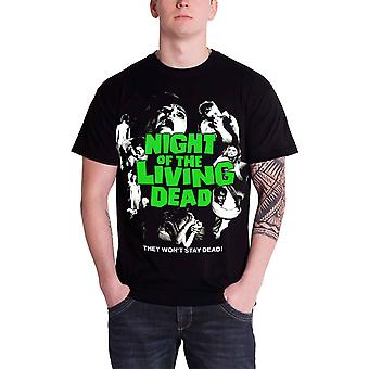 Plan 9 Night Of The Living Dead Poster Official Mens New Black T Shirt