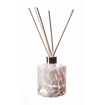Cylinder Reed Diffuser - White by Amelia Art Glass