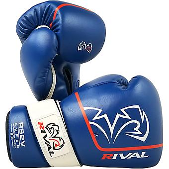 Rival Boxing RS2V 2.0 Super Pro Hook and Loop Sparring Gloves - Blue