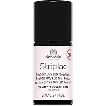 StripLAC Peel Off UV LED Classic Stars Nail Polish Collection - Satin Rosa 8ml (911)