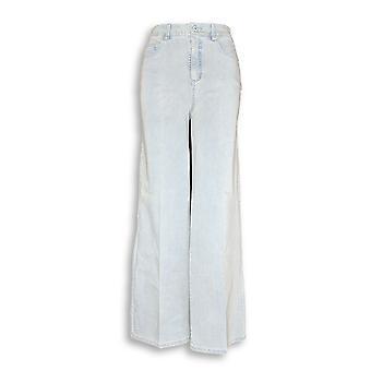 Isaac Mizrahi Live! Vrouwen ' s jeans 24/7 denim breed blauw A273099
