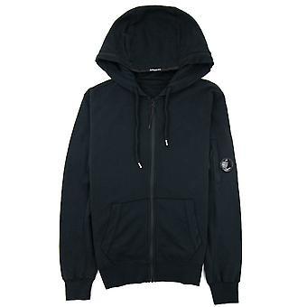CP bedrijf kledingstuk geverfd licht fleece Hooded zip Sweatshirt zwart 999