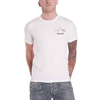 Pink Floyd T shirt Dark kant van de maan Prism terug print officiële mens wit