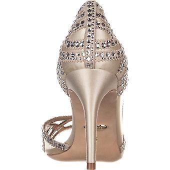 Badgley Mischka Womens Marla Satin Suede Evening Sandals