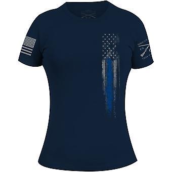 النجون نمط المرأة & s الخط الأزرق العلم تي شيرت - البحرية