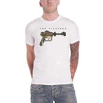 Foo Fighters T Shirt Ray Gun Band Logo new Official Mens White