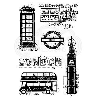 Woodware Francoise Collection Clear Magic Stamp London Elements A6
