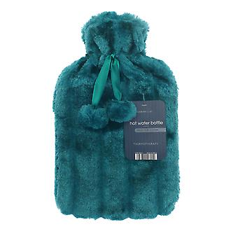 Country Club warm water fles, effen bont Teal