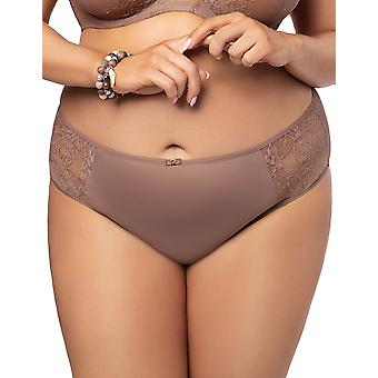Gorsenia K495 Women's Hot Chocolate Mocca Brown Lace Knickers Panty Full Brief