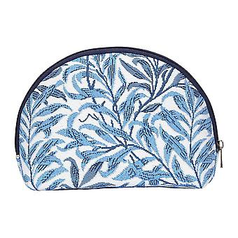 William morris - willow bough big cosmetic bag by signare tapestry / bgcos-wiow