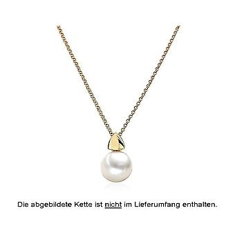 Luna-Pearls Pearl Pendant Freshwater Pearl 9.5-10 mm 585/-Yellow Gold 3001230
