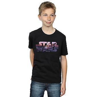 Star Wars Boys The Mandalorian The Child Logo T-Shirt