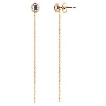 The Interchangeable Earrings A56671 - Serti PM Gold Rose Crystal