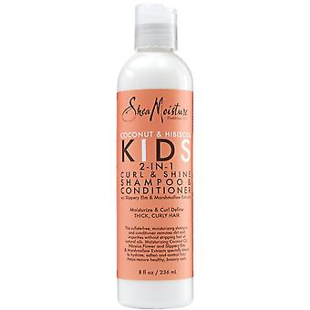Shea Moisture Kids Coconut & Hibiscus 2-in-1 Shampoo & Conditioner