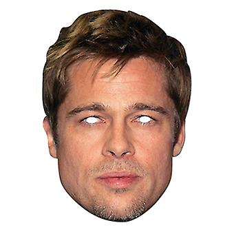 Brad Pitt Celebrity Card Party Fancy Dress Mask