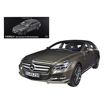 2012 Mercedes CLS 500 Wagon Shooting Brake Metallic Ivory 1/18 Diecast Car Model by Norev