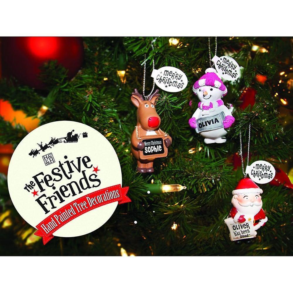 History & Heraldry Festive Friends Hanging Tree Decoration - Merry Christmas