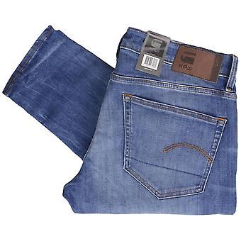 G-Star 3301 Elto Superstretch gedeconstrueerd middellange Indigo leeftijd Skinny Jeans